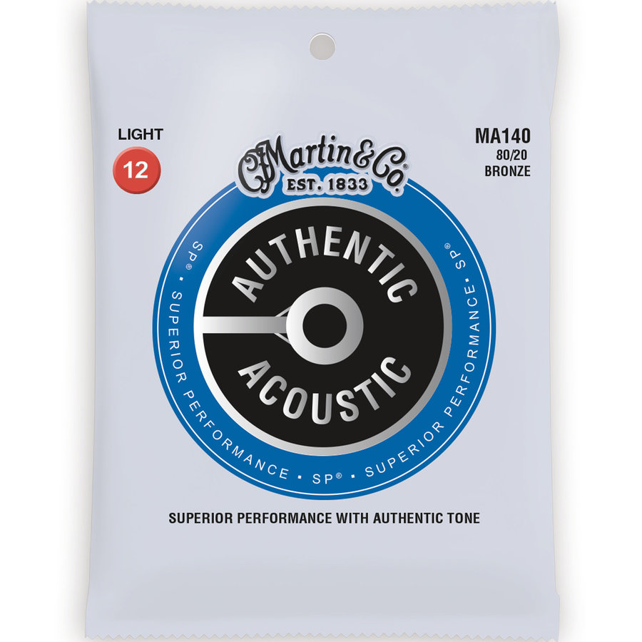 View larger image of Martin Authentic SP Acoustic Guitar Strings - 80/20, Light