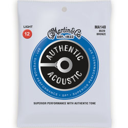 Martin Authentic SP Acoustic Guitar Strings - 80/20, Light