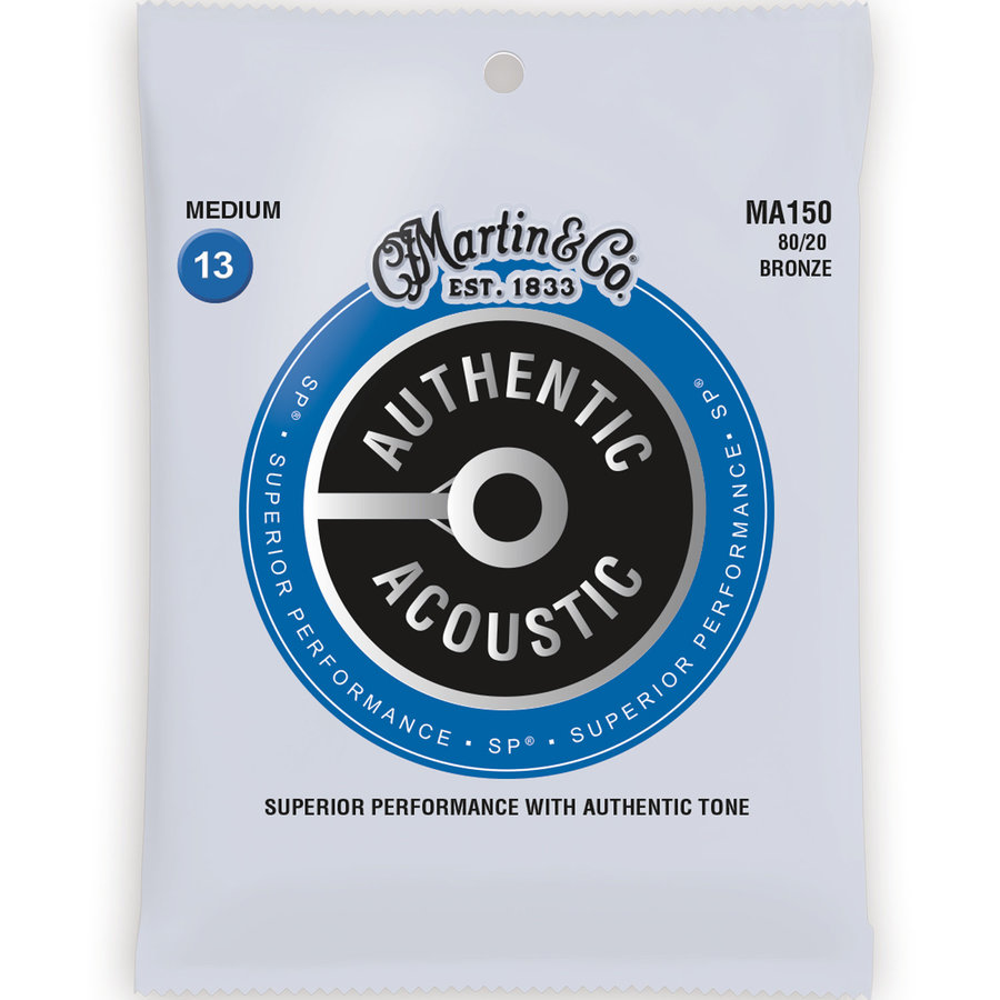 View larger image of Martin Authentic SP Acoustic Guitar Strings - 80/20, Medium