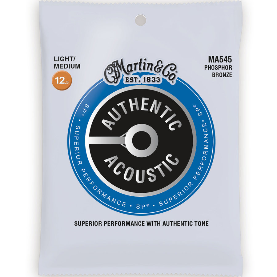 View larger image of Martin Authentic SP Acoustic Guitar Strings - 92/8, Bluegrass