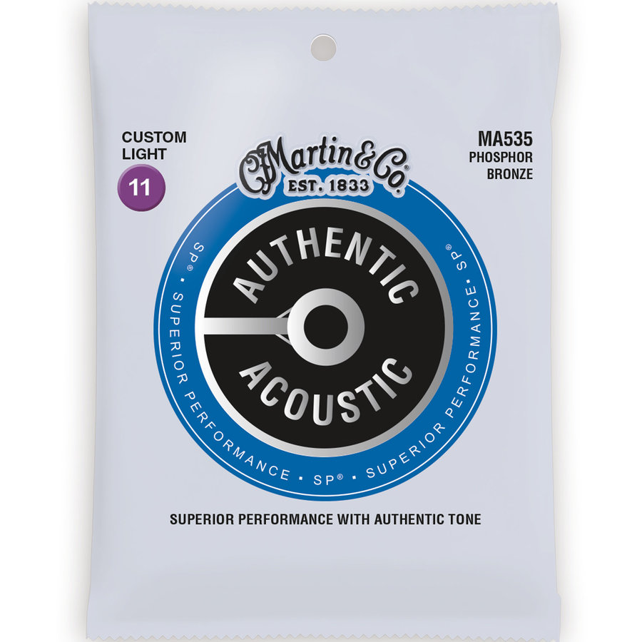 View larger image of Martin Authentic SP Acoustic Guitar Strings - 92/8, Custom Light
