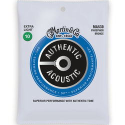 Martin Authentic SP Acoustic Guitar Strings - 92/8, Extra Light