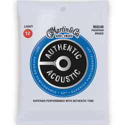 Martin Authentic SP Acoustic Guitar Strings - 92/8, Light