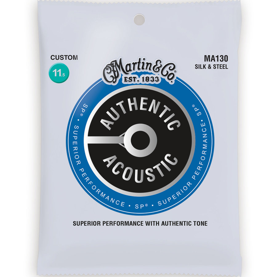 View larger image of Martin Authentic SP Acoustic Guitar Strings - Silk & Steel, 11-1/2-47