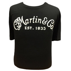 Martin Basic Logo T-Shirt - Black/White, XXL