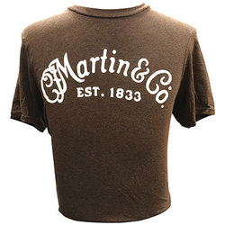Martin Basic Logo T-Shirt - Heather Brown, XL