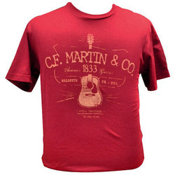 Martin D28 Logo T-Shirt - Cardinal, Medium