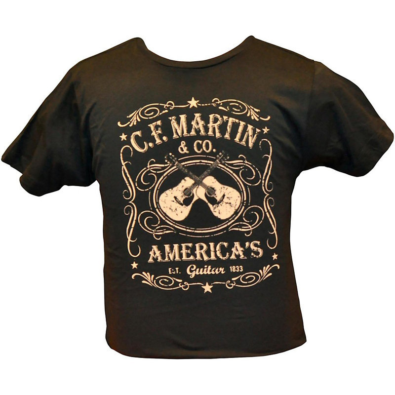 View larger image of Martin Dual Guitar T-Shirt - Black, Small