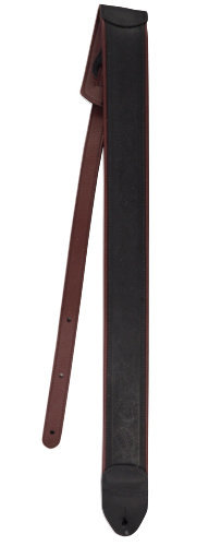 View larger image of Martin Garment Leather Guitar Strap - Maroon/Black