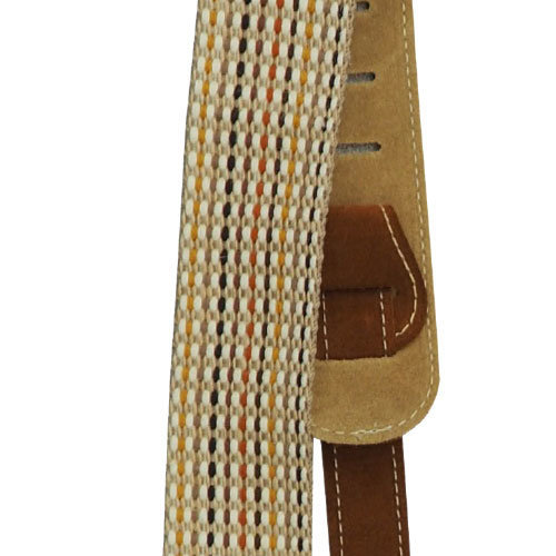 View larger image of Martin Woven Guitar Strap - Brown Leather Ends