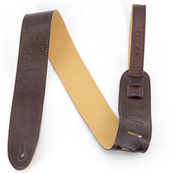 """Martin Soft Leather Guitar Strap - 2"""", Brown"""