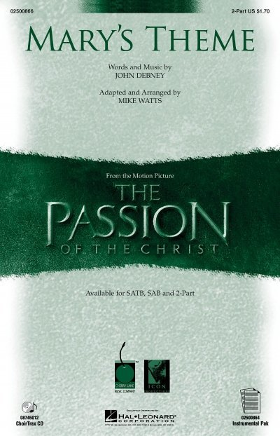 View larger image of Mary's Theme - (from The Passion of the Christ) - 2PT, Parts