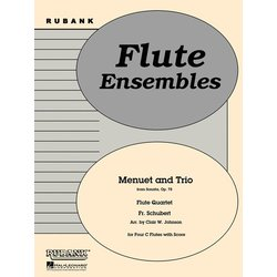 Menuet and Trio (Schubert) - Flute Quartet