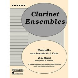 Menuetto from Serenade No. 1 (K.62a) - (Mozart) - Clarinet Quintet