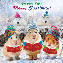 Merry Christmas Card - Christmas Carollers