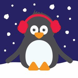 Merry Christmas Card - Penguin
