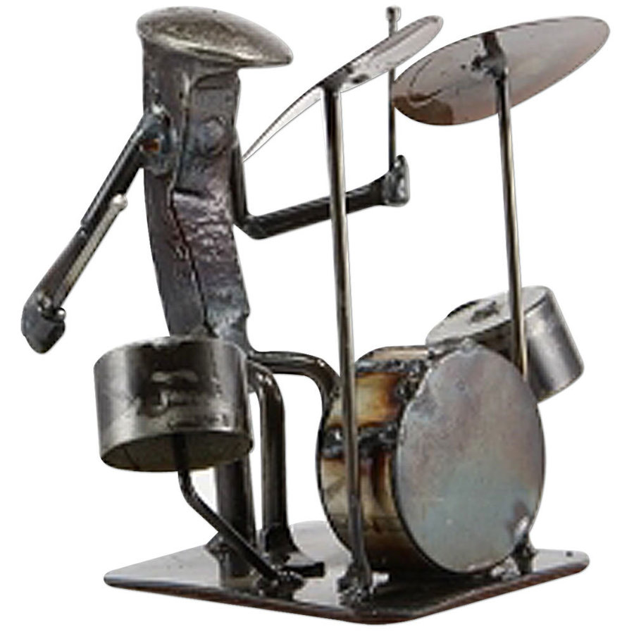 View larger image of Metal Drummer Sculpture - 6