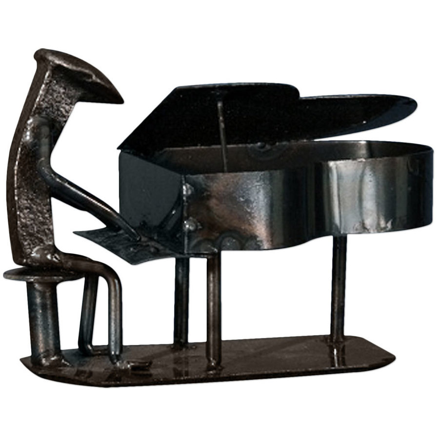 View larger image of Metal Grand Piano Player Sculpture - 6