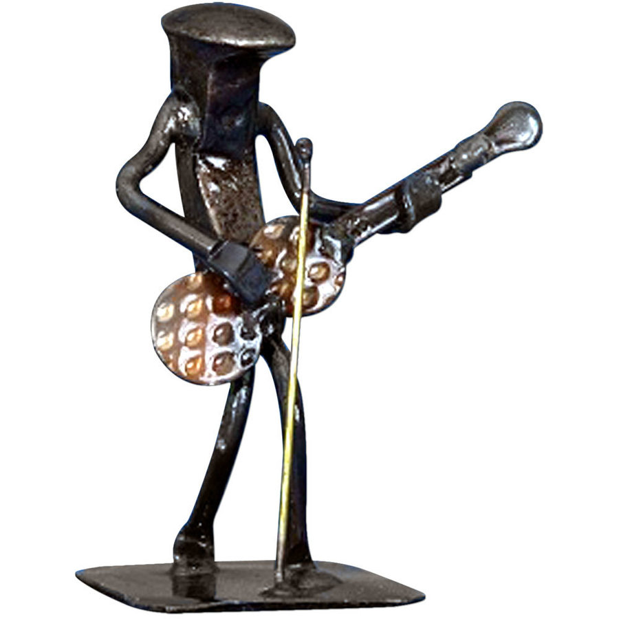 View larger image of Metal Guitarist with Mic Sculpture - 6