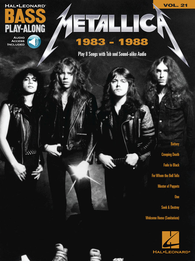 View larger image of Metallica: 1983-1988 - Bass Play-Along Volume 21 w/Online Audio