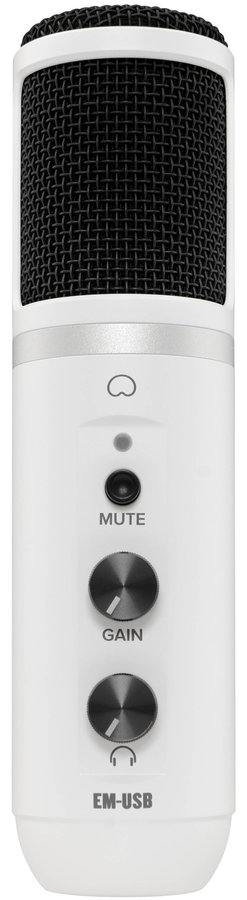 View larger image of Mackie EM-USB Condenser Microphone - Limited Arctic White