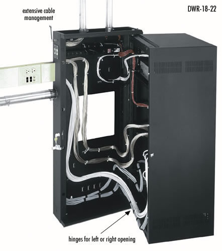 View larger image of Middle Atlantic DWR-18-22 Wallmount Rack with Door