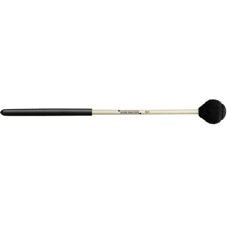 View larger image of Mike Balter Suspended Cymbal Mallet - Medium Hard, Yarn, Black