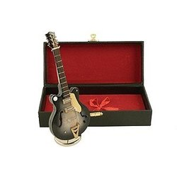 Mini Country Classic Electric Guitar with Case - Black