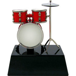 Mini Drum Set on Stand - Red, 3