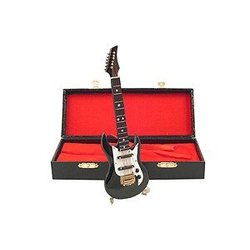 Mini Electric Guitar with Case - Black, 7