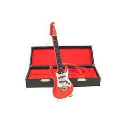 Mini Electric Guitar with Case - Red, 7