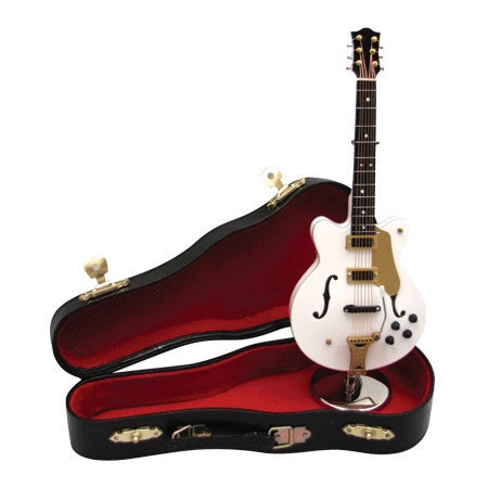 View larger image of Mini Falcon Guitar with Case - White, 7