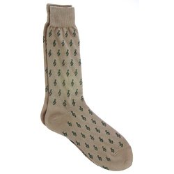 Mini G-Clefs Socks - Khaki/Black, Men's