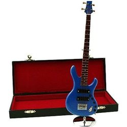 Mini Ibanez Guitar with Case - Blue, 9-1/2
