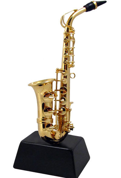 View larger image of Mini Saxophone on Stand - 4-1/2