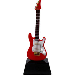 Mini Strat Electric Guitar on Stand - 6