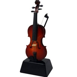 Mini Violin on Stand - 6