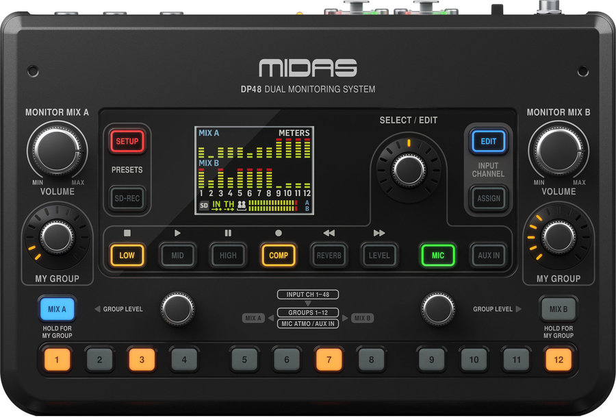 View larger image of Midas DP48 48-Channel Personal Mixer