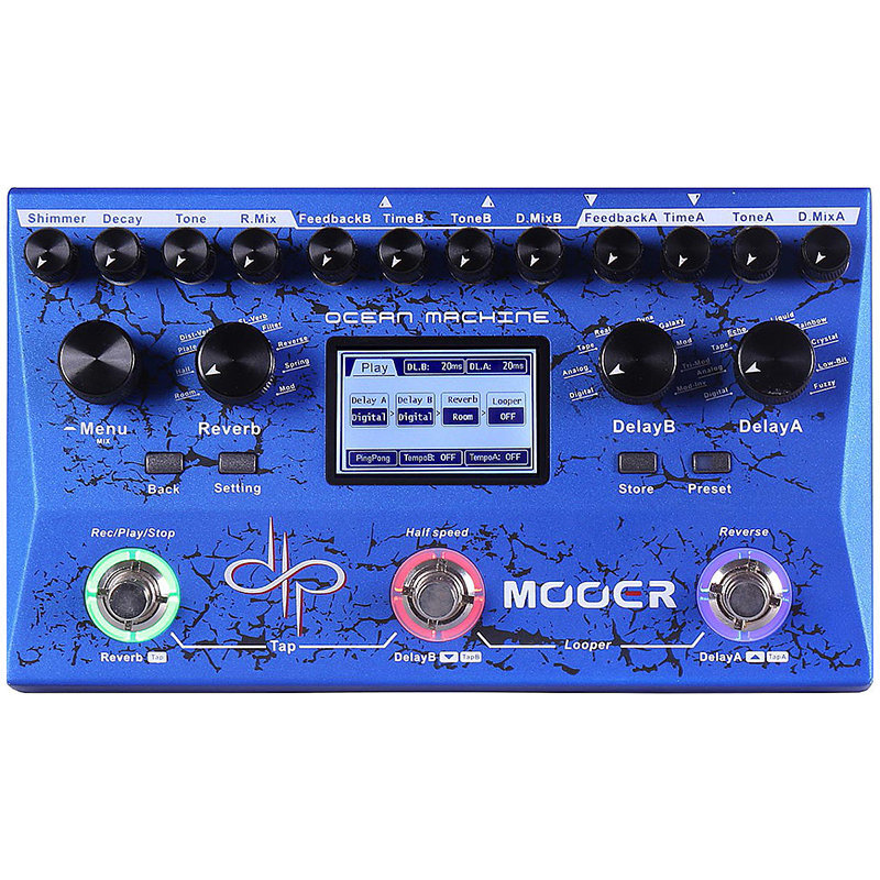 View larger image of Mooer Ocean Machine Delay/Reverb Pedal