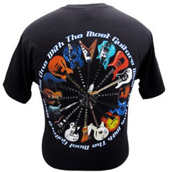 Most Guitars Wins T-Shirt - Medium