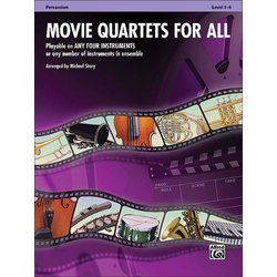 Movie Quartets for All - Percussion