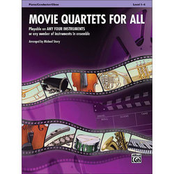 Movie Quartets for All - Piano/Conductor, Oboe