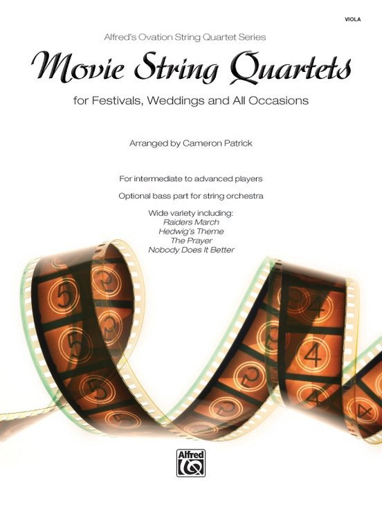 View larger image of Movie String Quartets for Festivals, Weddings, and All Occasions - Viola
