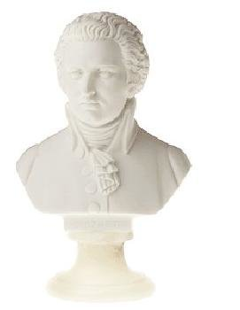 View larger image of Mozart Bust - Small, 4-1/2