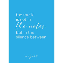 Mozart Quote Greeting Card