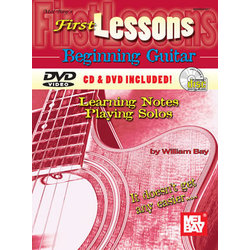 Music: 1st Lessons Beginning Guitar Learning Notes/Playing Solos (Book/CD/DVD Set)