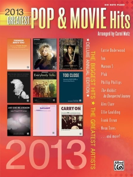 View larger image of 2013 Greatest Pop & Movie Hits - Easy Piano
