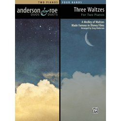 Three Waltzes for Two Pianos - (Two Pianos, 4 Hands)