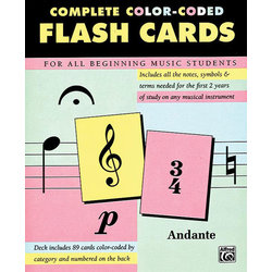 Music 89 Color Coded Flash Cards