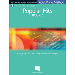 Hal Leonard Student Piano Library Adult Piano Method - Popular Hits Book 2 w/Online Audio
